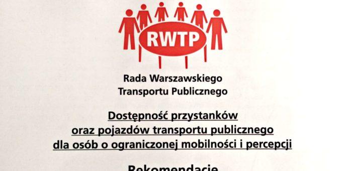 Dostępne przystanki i pojazdy – rekomendacje RWTP